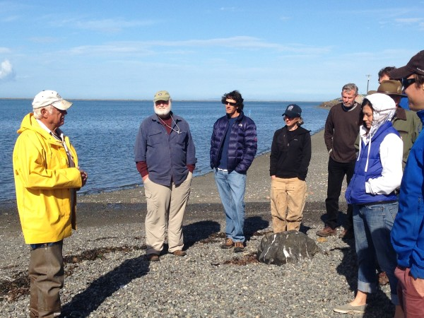 Olympic Peninsula CATS students learn about tribal fisheries from Marlin Holden, Jamestown S'Klallam elder and tribal fisherman, fall 2014.